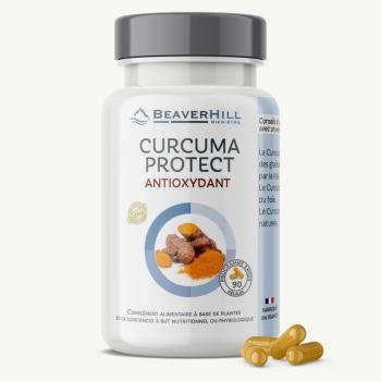 Curcuma Protect - Antioxydant puissant Curcuma, Quercétine, Trans-Resvératrol, Bromélaïne