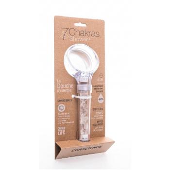 Douchette Conscience Quartz Blanc  8 cm