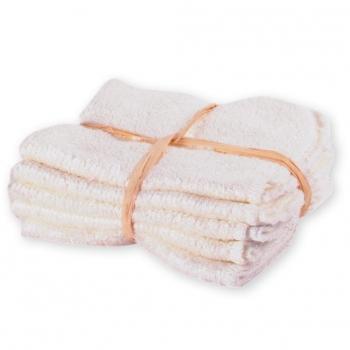 5 lingettes réutilisables écru en éponge de coton bio - gamme eco net - Les Tendances d'Emm