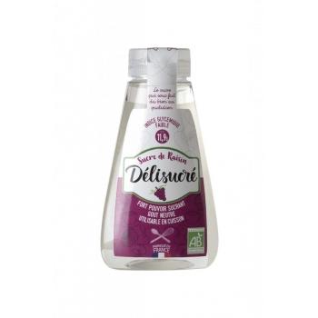 Sucre liquide 100% naturel Délisucré Raisin Bio 330G