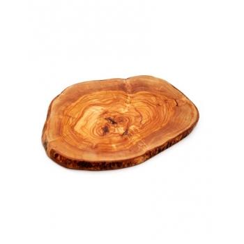 Dessous de plat rustique en bois d'olivier