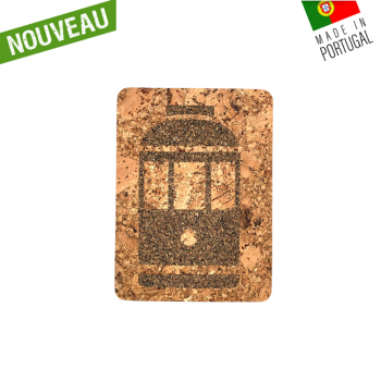 "Dessous de plat rectangle en liège naturel artisanal ""Tramway Naturel"""
