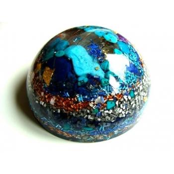 Demi sphère très grand modèle lapis lazuli/turquoise