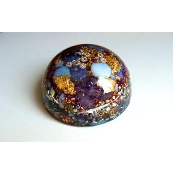 Demi sphère très grand modèle opale/améthyste