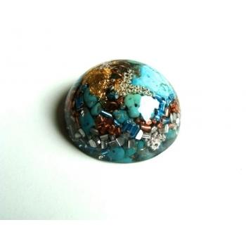 Demi sphère turquoise