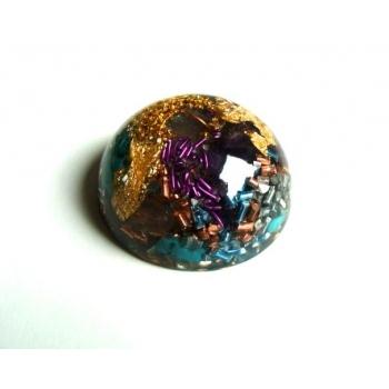 Demi sphère turquoise améthyste