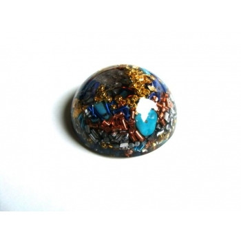 Demi sphère turquoise lapis lazuli