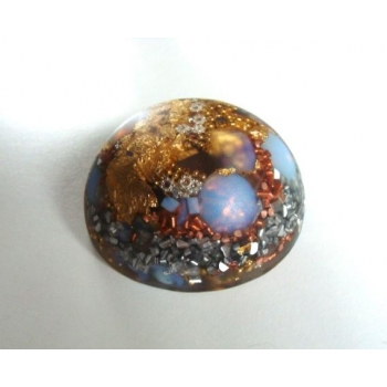 Demi sphère opale givrée grand modèle
