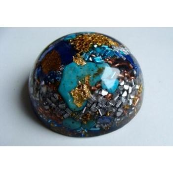 Demi sphère grand modèle lapis turquoise