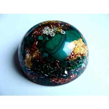 Demi sphère grand modèle malachite