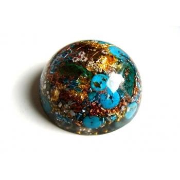 Demi sphère grand modèle turquoise