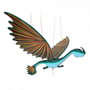 Mobile artisanal  dragon long cou issu du commerce équitable