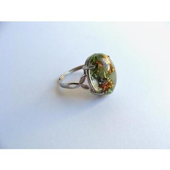 Bague orgonite ovale jade
