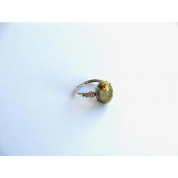 Bague orgonite coeurs jade