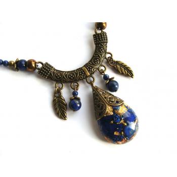 Collier orgonite Tibet lapis lazuli
