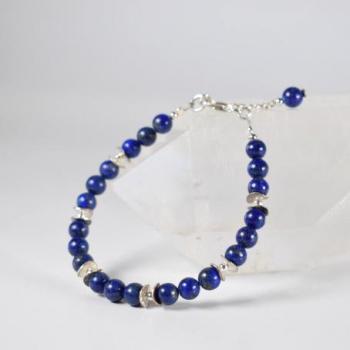 Bracelet Lapis-Lazuli et argent
