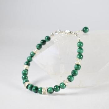 Bracelet Malachite et argent