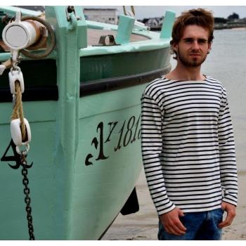 Marinière unisex Cote 1X1 Coton Bio 340g/m² Fabriqué en france