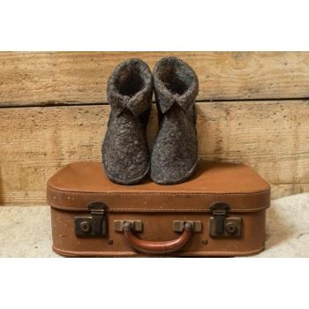 chaussons mixte en laine feutrée naturelle