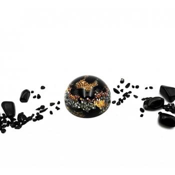 Demi sphère tourmaline noire grande