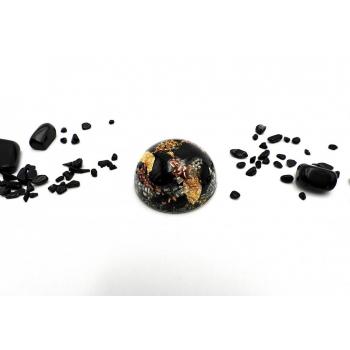 Demi sphère tourmaline noire moyenne
