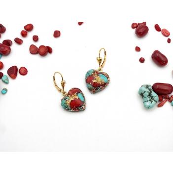 Boucles d'oreilles orgonite coeur Tibet