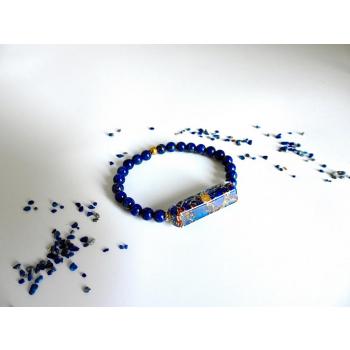 Bracelet orgonite rectangle lapis lazuli