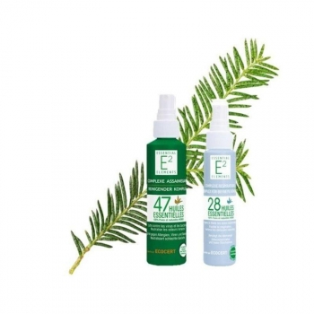 Kit hivernal : Spray Assainissant aux 47 huiles essentielles + Spray Respiratoire aux 28 huiles essentielles (facilite la respiratio