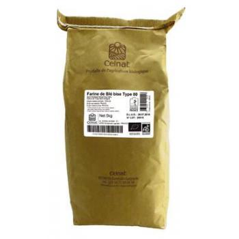 Farine de blé bise t80 5kg  CELNAT