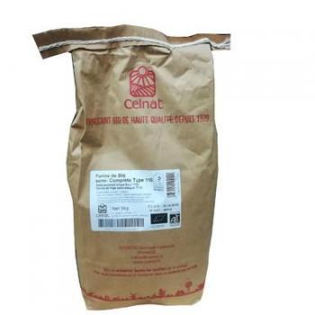 Farine de blé semi-complète t110 5kg  CELNAT