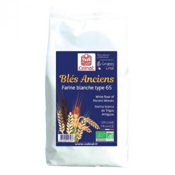 Farine de blés anciens blanche t65 1kg  CELNAT