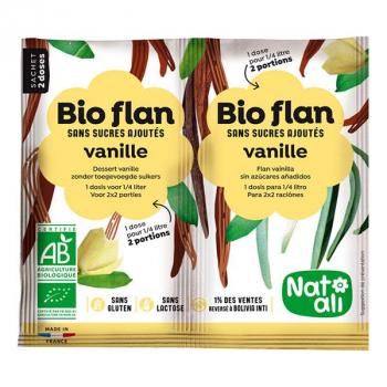 Bioflan vanille sans sucre 2x1/4l--NATALI
