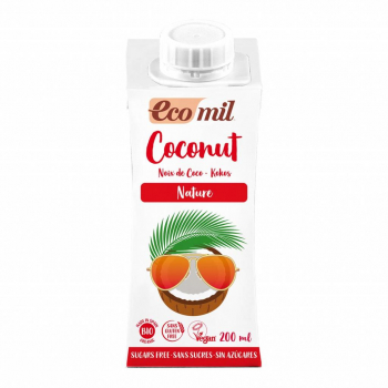 Lait Coco Nature 200ml Bio - Ecomil