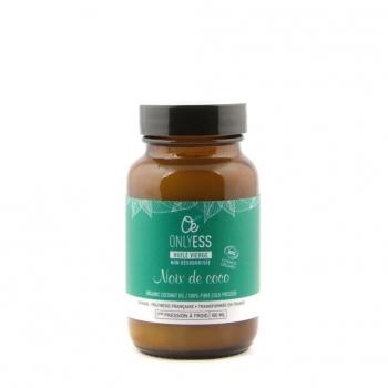 Huile vierge de noix de coco BIO et non désodorisée - Flacon verre 100 ml