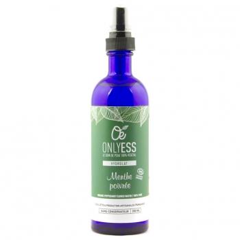 Véritable eau florale de Menthe poivrée BIO - Flacon verre 200 ml