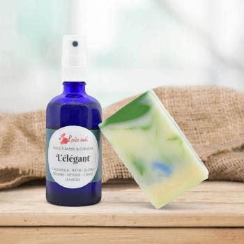 Coffret Elégant – Huile L'Elégant & Shampoing solide L'Alexandrin