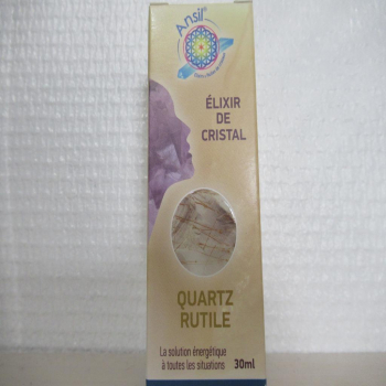 "Elixir de cristal ""quartz rutile"""