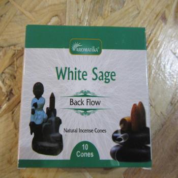 Cônes encens à reflux de sauge blanche