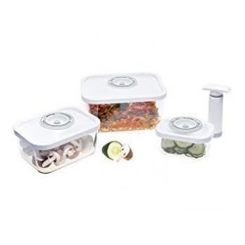 Panache 3 boîtes + pompe manuelle Couvercles blancs