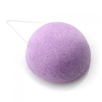 Eponge konjac DBS ronde à la violette