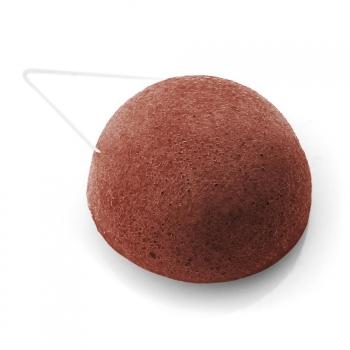 Eponge konjac DBS ronde argile rouge