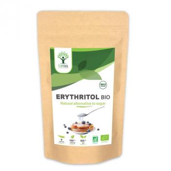 Erythritol Bio - Zéro Sucre - Zéro Calorie - Poudre d'Erythritol - Sucre Alternatif - BIOPTIMAL - 150g