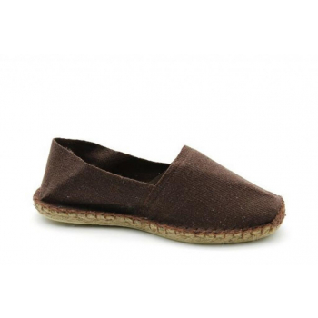 Espadrilles Unies Chocolat - Made in France
