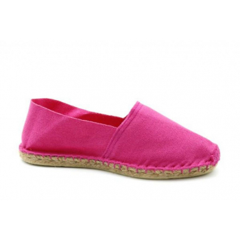 Espadrilles Unies Fuschia - Made in France