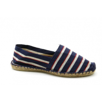 Espadrilles Rayées Bleu Rouge Blanc - Made in France