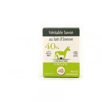Savon au lait d'ânesse 40 % à la camomille Bio