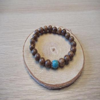 Bracelet en perles de bois n3