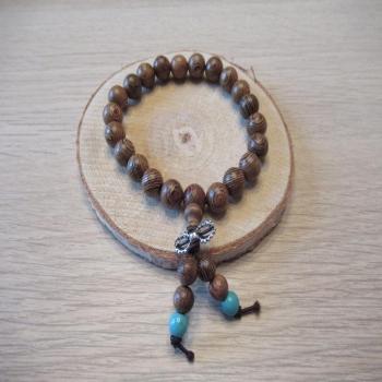 Bracelet en perles de bois n4