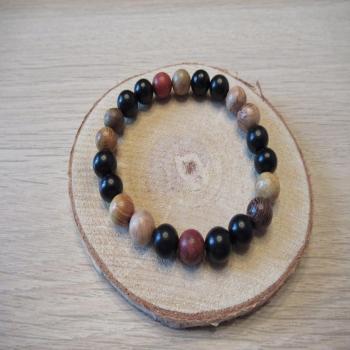 Bracelet en perles de bois n5