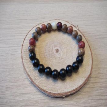 Bracelet en perles de bois n6